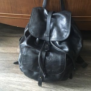 """MADEWELL """"The Transport"""" black leather backpack"""